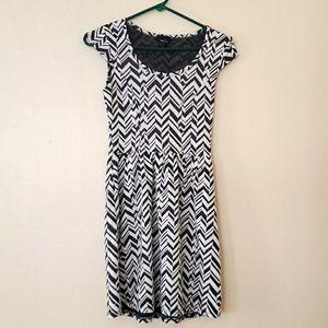 Rue21 black and white dress